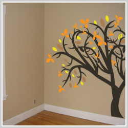 Removable Fall Wall Art Eals